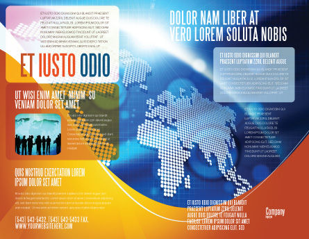 Global Technologies Brochure Template, Outer Page, 01456, Global — PoweredTemplate.com