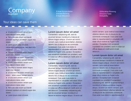 Blue Earth Abstract Brochure Template Inner Page