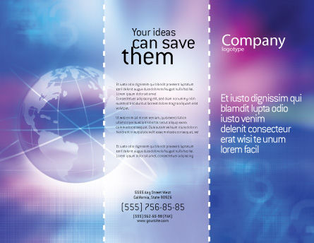 Blue Earth Abstract Brochure Template Outer Page