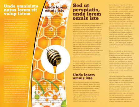 Wafers and Honey Brochure Template, Inner Page, 01518, Food & Beverage — PoweredTemplate.com