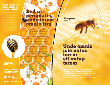 Wafers and Honey Brochure Template, Outer Page, 01518, Food & Beverage — PoweredTemplate.com