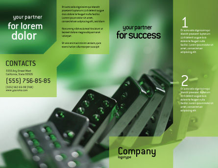 Domino Brochure Template, Outer Page, 01521, Business Concepts — PoweredTemplate.com