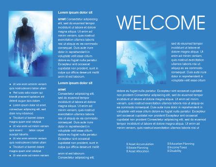 Businessman Brochure Template, Inner Page, 01534, Global — PoweredTemplate.com