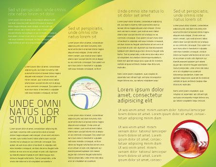 Terrestrial Globe Brochure Template, Inner Page, 01541, Global — PoweredTemplate.com