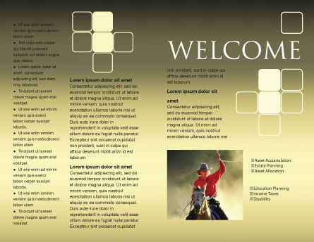 Cowboy Brochure Template Inner Page