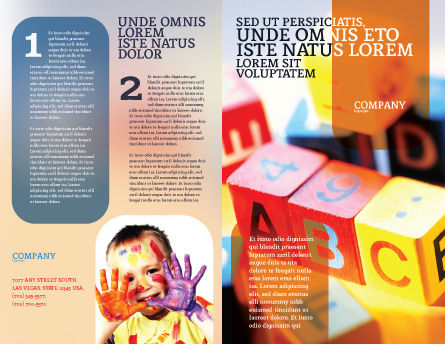ABC Educational Cubes Brochure Template, Outer Page, 01600, Education & Training — PoweredTemplate.com