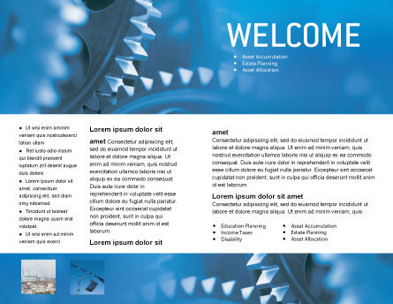 Mechanism Brochure Template, Inner Page, 01604, Utilities/Industrial — PoweredTemplate.com