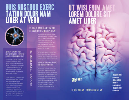 Brain Brochure Template, Outer Page, 01606, Medical — PoweredTemplate.com