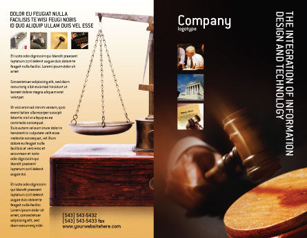 Legal Brochure Template Outer Page