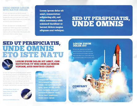 Space Research Brochure Template, Outer Page, 01634, Construction — PoweredTemplate.com