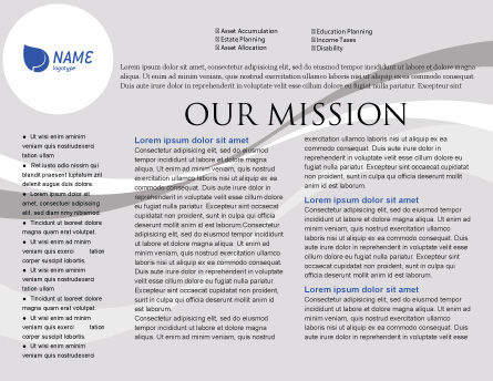 Airplane Brochure Template Inner Page