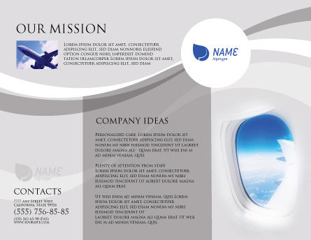 Airplane Brochure Template Outer Page