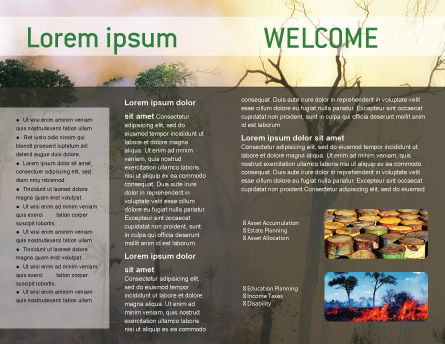 Forest Fire Brochure Template, Inner Page, 01636, Nature & Environment — PoweredTemplate.com