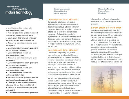 Power Line Brochure Template Inner Page