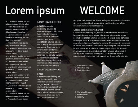 Deputy Sheriff Brochure Template, Inner Page, 01641, Legal — PoweredTemplate.com