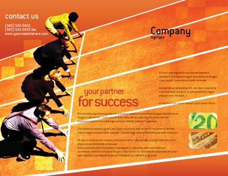 Office Race Brochure Template, Outer Page, 01651, Business Concepts — PoweredTemplate.com