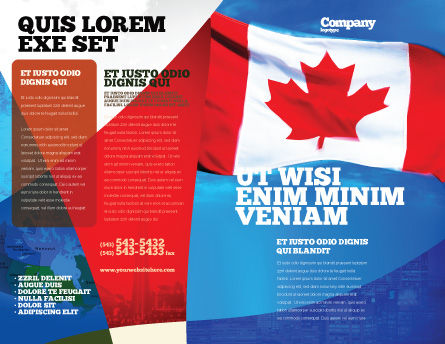 Canadian Flag Brochure Template, Outer Page, 01654, Flags/International — PoweredTemplate.com