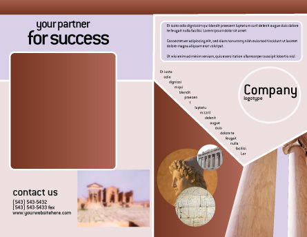 Ancient Greece Brochure Template Outer Page