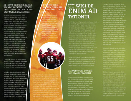 American Football Play Off Brochure Template, Inner Page, 01674, Sports — PoweredTemplate.com