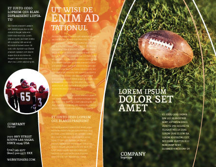 American Football Play Off Brochure Template, Outer Page, 01674, Sports — PoweredTemplate.com