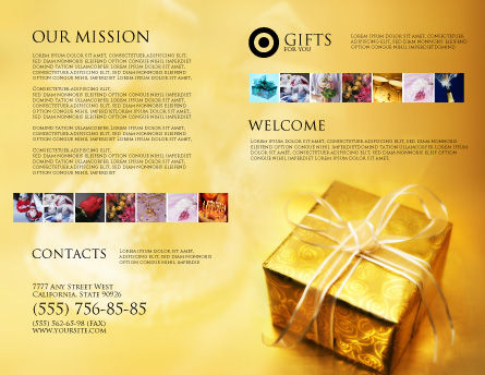 A Gift For Christmas Brochure Template, Outer Page, 01694, Holiday/Special Occasion — PoweredTemplate.com