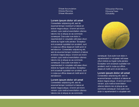 Tennis Brochure Template, Inner Page, 01697, Sports — PoweredTemplate.com