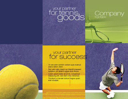 Tennis Brochure Template, Outer Page, 01697, Sports — PoweredTemplate.com