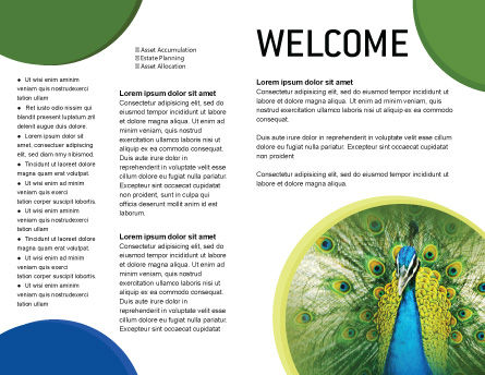 Peacock Brochure Template, Inner Page, 01711, Agriculture and Animals — PoweredTemplate.com