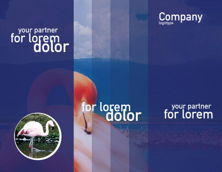 Flamingo Brochure Template, Inner Page, 01725, Agriculture and Animals — PoweredTemplate.com