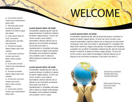 World Discovery Brochure Template, Inner Page, 01727, Global — PoweredTemplate.com