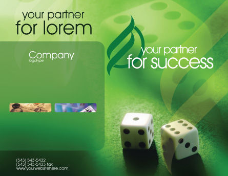 Dice On A Green Cloth Brochure Template, Outer Page, 01735, Art & Entertainment — PoweredTemplate.com