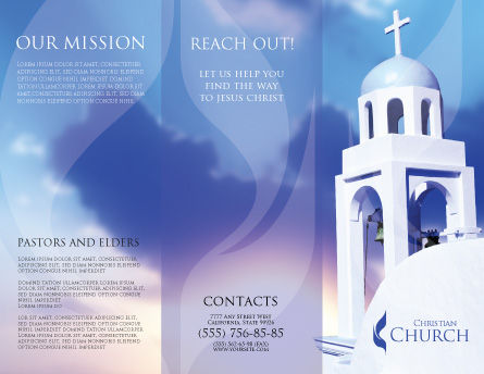 Belfry Brochure Template Outer Page