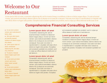 Modèle de Brochure de fast food, Page intérieure, 01741, Food & Beverage — PoweredTemplate.com