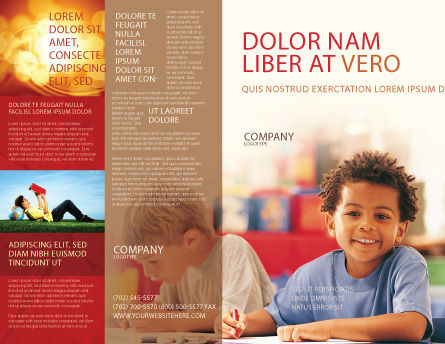 Basic Education Brochure Template, Outer Page, 01743, Education & Training — PoweredTemplate.com