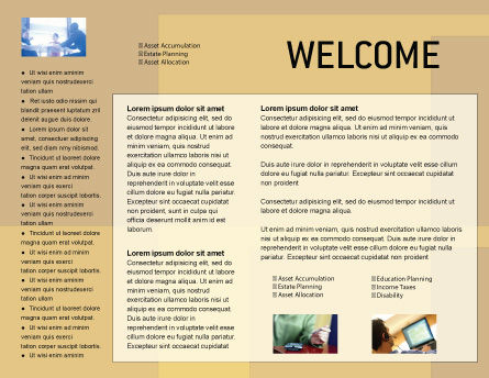 Building Architecture Brochure Template, Inner Page, 01748, Technology, Science & Computers — PoweredTemplate.com