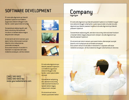 Building Architecture Brochure Template, Outer Page, 01748, Technology, Science & Computers — PoweredTemplate.com