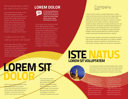Belgian Flag Brochure Template, Inner Page, 01751, Flags/International — PoweredTemplate.com