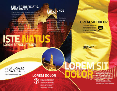 Belgian Flag Brochure Template, Outer Page, 01751, Flags/International — PoweredTemplate.com