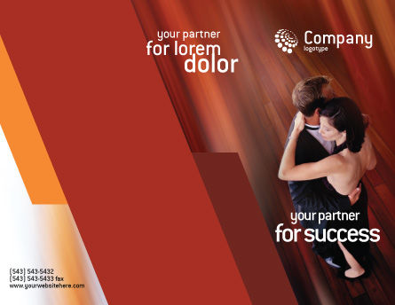 Dancing Couple Brochure Template Outer Page