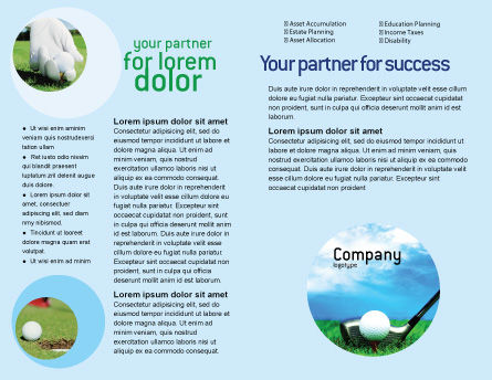 Golf Brochure Template, Inner Page, 01768, Sports — PoweredTemplate.com