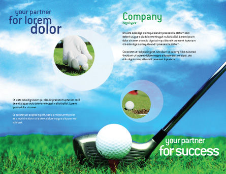 Golf Brochure Template, Outer Page, 01768, Sports — PoweredTemplate.com