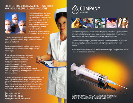 Shot Brochure Template Outer Page