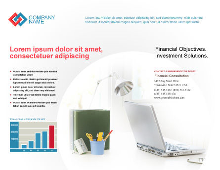 White Space With Laptop Brochure Template Outer Page