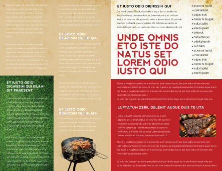 Barbeque Brochure Template, Inner Page, 01794, Food & Beverage — PoweredTemplate.com
