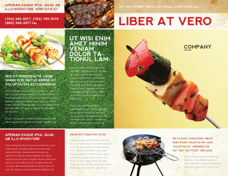 Barbeque Brochure Template, Outer Page, 01794, Food & Beverage — PoweredTemplate.com