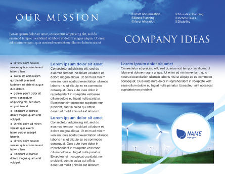 Wind Energy Brochure Template, Inner Page, 01801, Technology, Science & Computers — PoweredTemplate.com