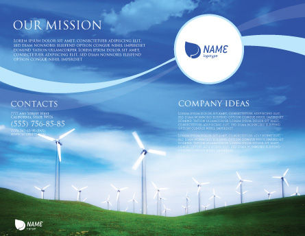 Wind Energy Brochure Template, Outer Page, 01801, Technology, Science & Computers — PoweredTemplate.com