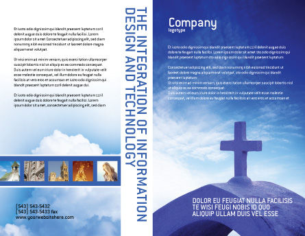 Blue Cross Brochure Template Outer Page