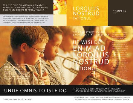 Music School Brochure Template, Outer Page, 01806, Art & Entertainment — PoweredTemplate.com