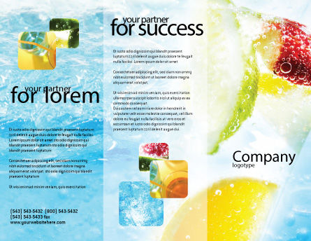 Soft Drink Brochure Template, Outer Page, 01808, Food & Beverage — PoweredTemplate.com
